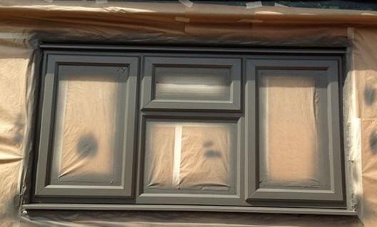 Spray UPVC windows